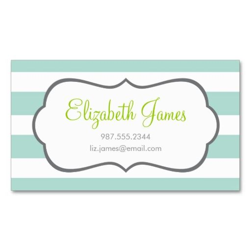 Mint wide stripe business card templates make your own business mint wide stripe business card templates make your own business card with this great design reheart Choice Image
