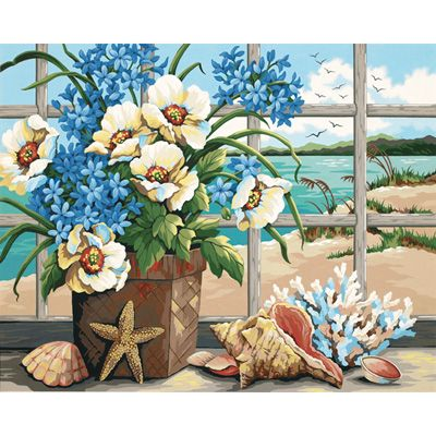 Dimensions 16×20 Paint By Number Kit – Seaside Still Life « Blast Groceries
