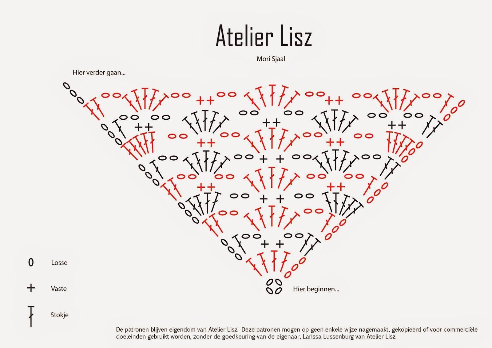 Atelier Lisz - Haken en haaknaald: De Mori Sjaal - Gratis ...