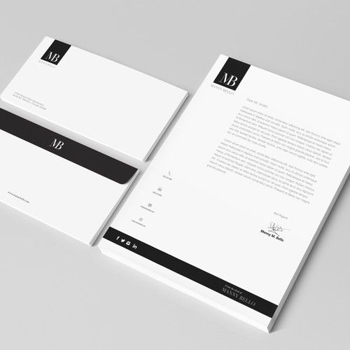 Letter Head And Business Card Letterhead Design Business Card Design Visiting Cards