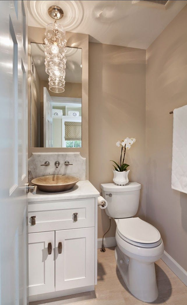 small guest bathroom decorating ideas like the back splash with the faucet on the wall in this very small bathroom small bathroom 391