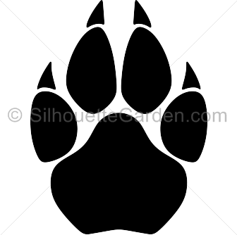 cougar paw print silhouette clip art download free versions of the rh pinterest com Wolf Paw Print Clip Art Paw Print Border Clip Art
