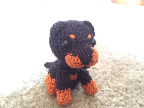 Tinkerbell Amigurumi Free Pattern : Mini Rottweiler Puppy Crochet Amigurumi amigurumi ...