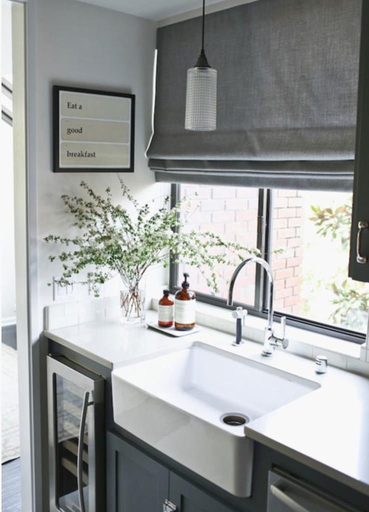 Black Grey White Kitchen Home
