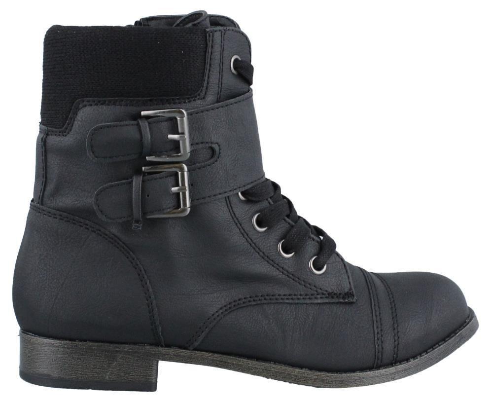 Rampage Jency Combat Boot Womens Boots Low Heel