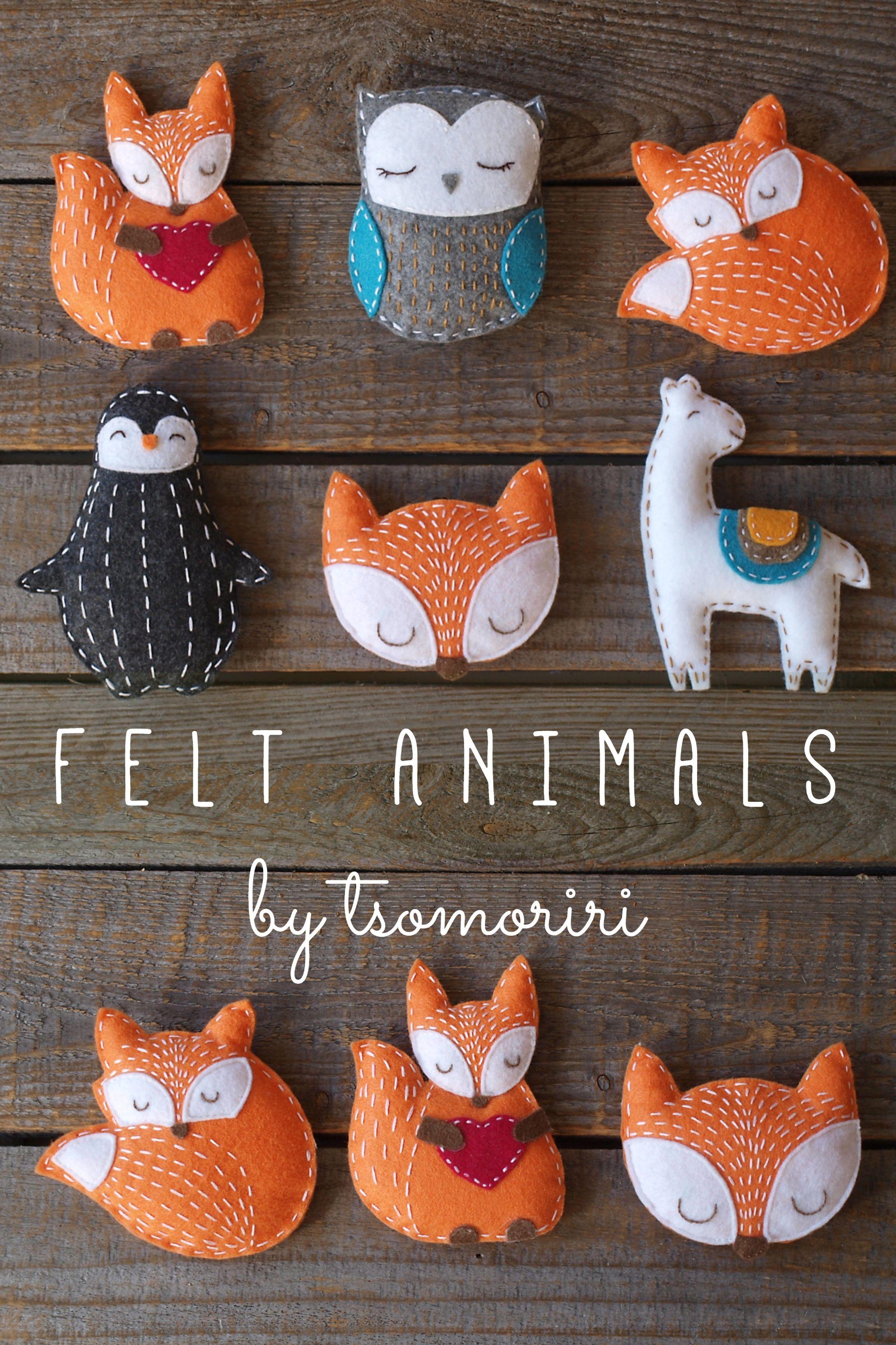 Felt Miniature Animals Felt Crafts Diy Felt Crafts Felt Christmas Ornaments