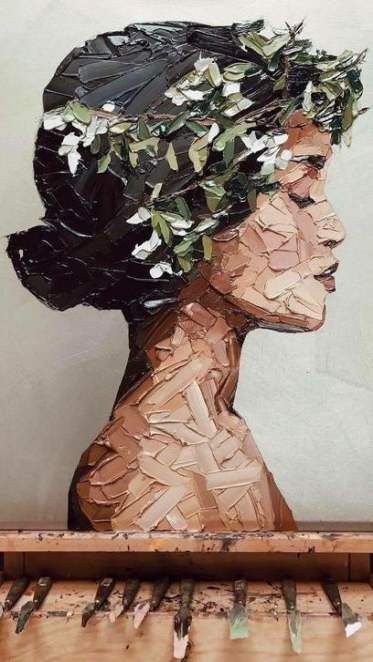 42 Super Ideas Drawing Woman Flowers Beautiful #drawing #flowers