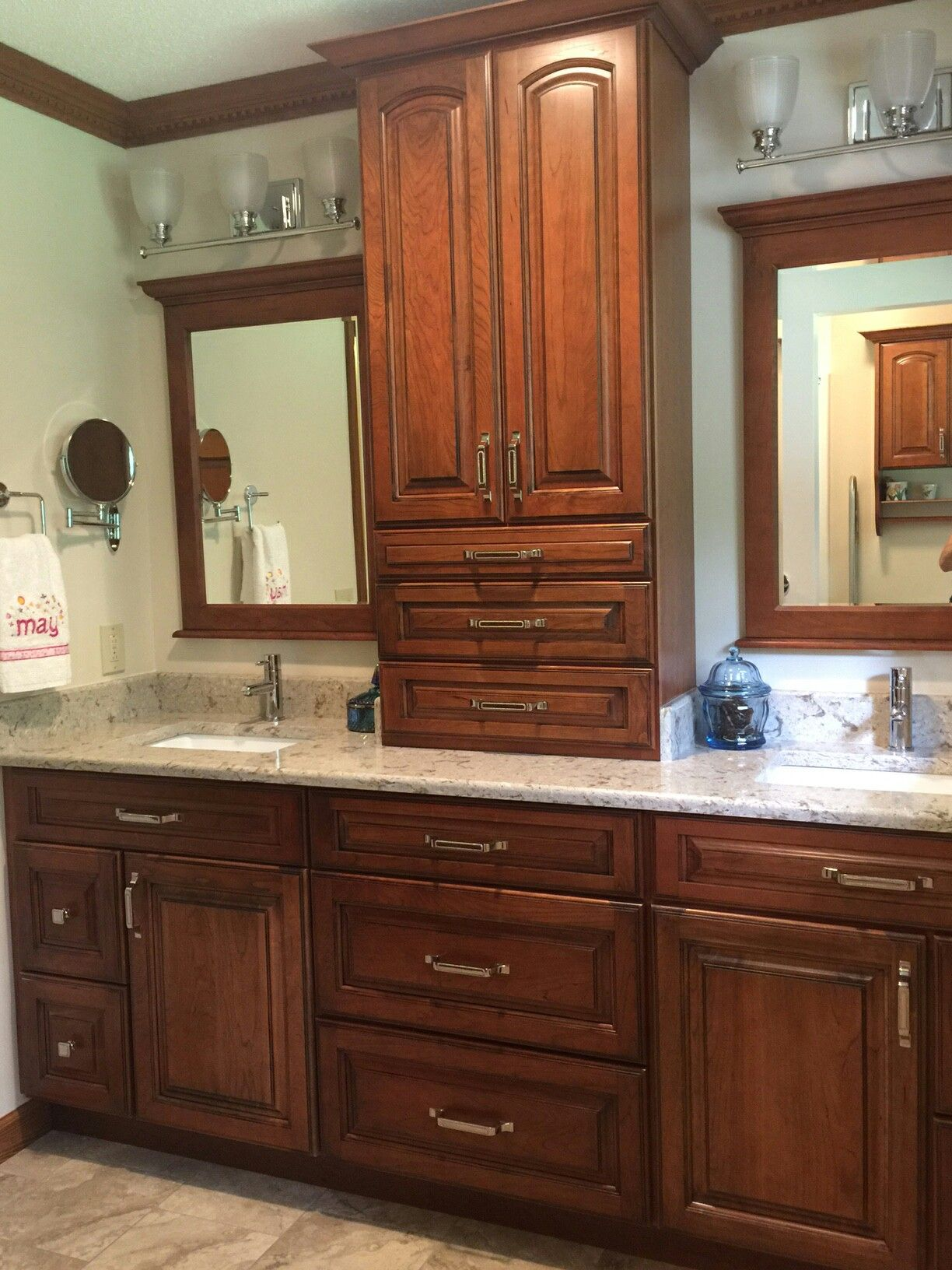 Bath Cabinets, Mirrors, And Toilet Topper Cabinets In Kemper Cabinetryu0027s  Herrington Cherry Whiskey Black