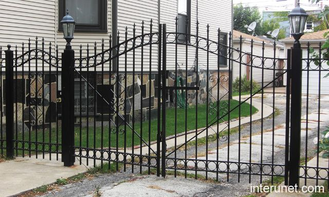 Fences And Gates | Wood Fence Ornamental Iron Handrail Pvc Chain Link  Hidden Fence Gate ... | House Ideas | Pinterest | Fence Gate, Iron  Handrails And Gate