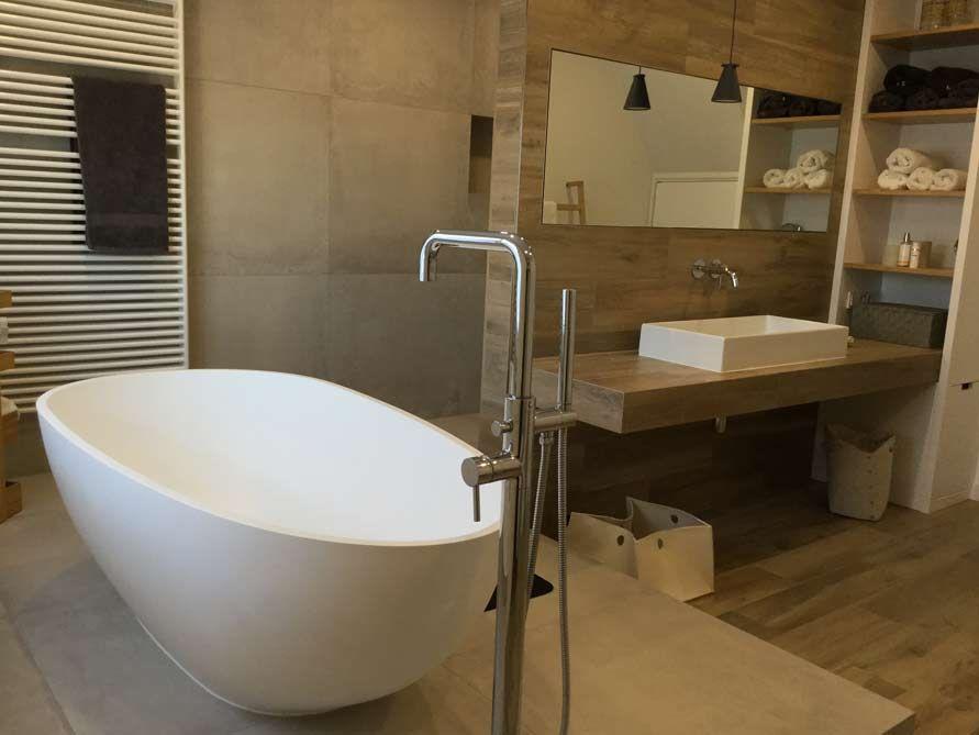 Freistehende Badewanne Luino aus Mineralguss - Weiß matt oder glänzend - badezimmer aufteilung neubau