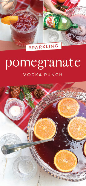 Sparkling Pomegranate Vodka Punch | Valerie's Kitchen