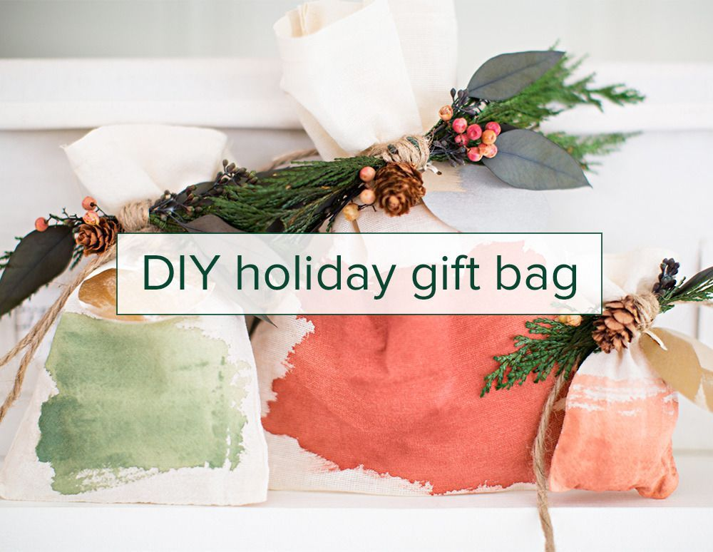 a diy holiday gift bag on domino.com