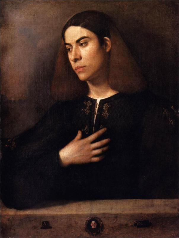 Giorgione, (Italian 1477–1510) [High Renaissance] Portrait of a Youth (Antonio Broccardo), 1500. Museum of Fine Arts, Budapest.
