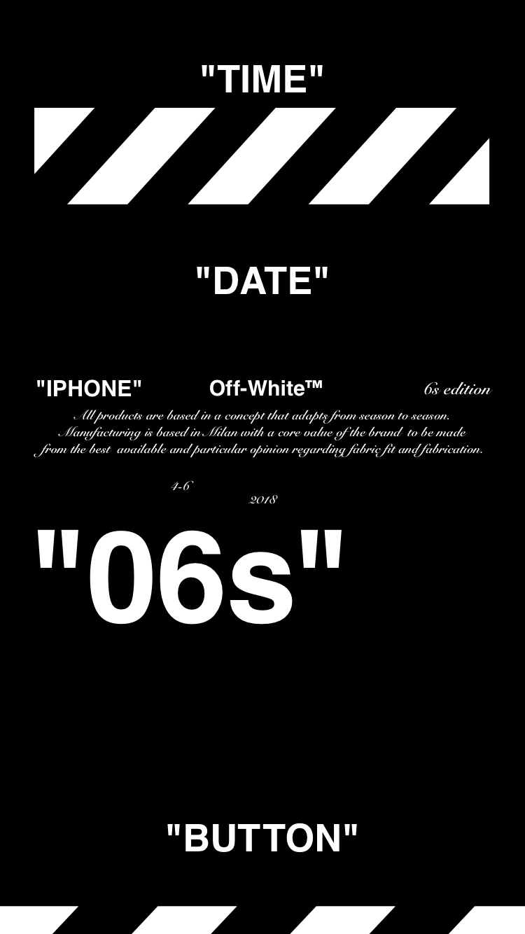 "Off-White™ ""IPHONE 6s"" ""WALLPAPER"" ""壁紙"" 18/4/10-14 ""OFFWHITE"" オフホワイト 