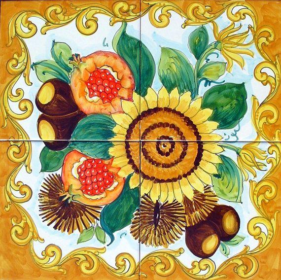 Kitchen Tiles Fruits Vegetables vegetables designs on ceramic tiles | tiles kitchen designs
