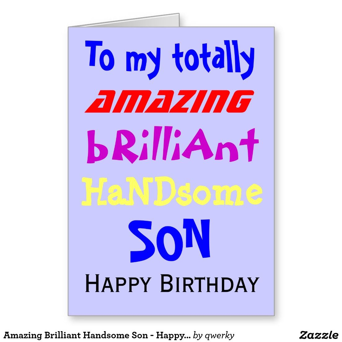 Amazing brilliant handsome son happy birthday greeting card amazing brilliant handsome son happy birthday greeting card bookmarktalkfo Image collections