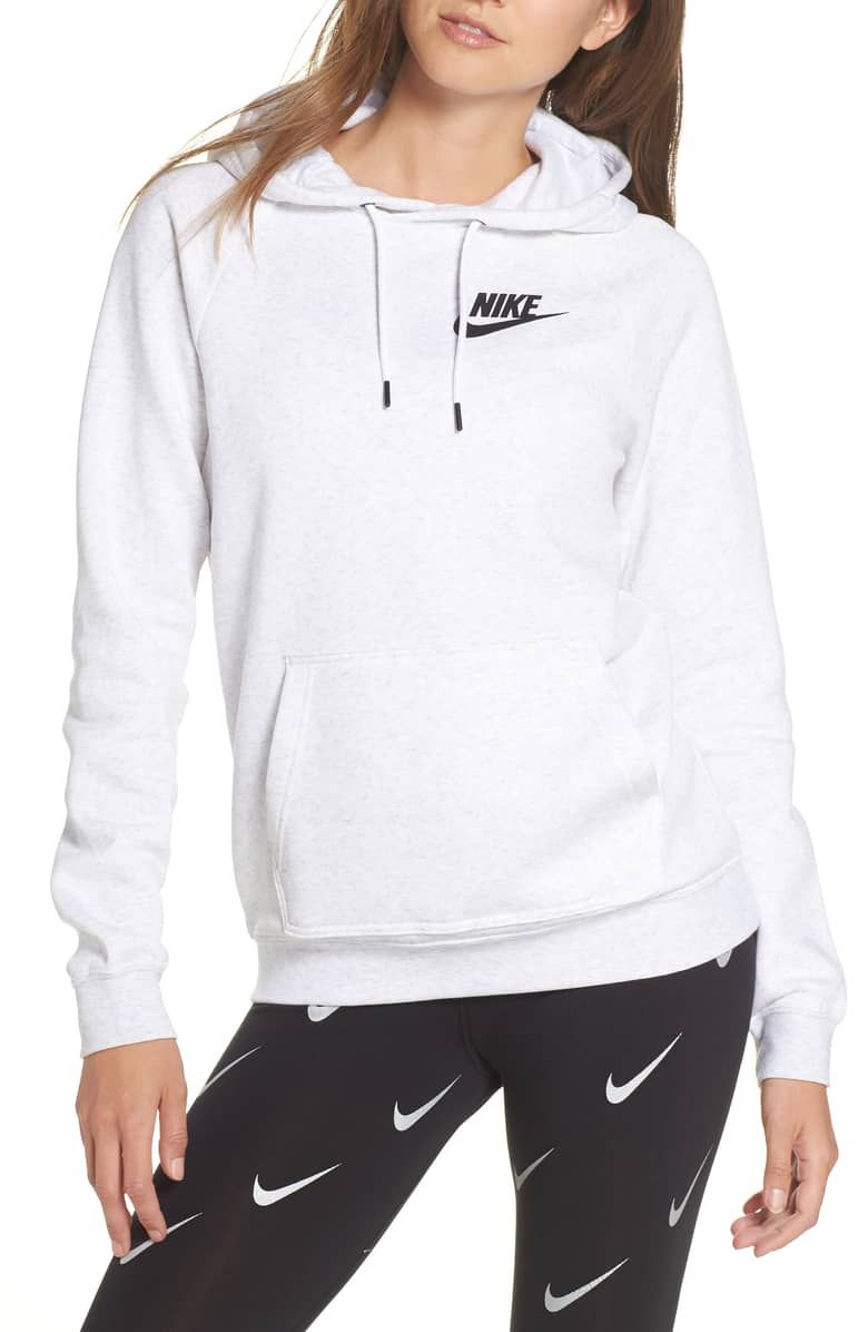 Sportswear Rally Women\u0027s Hoodie, BIRCH HEATHER/ WHITE/ BLACK