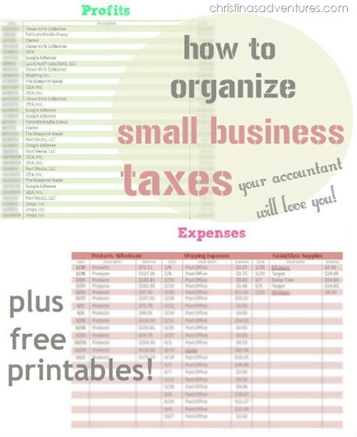 small business tax worksheet