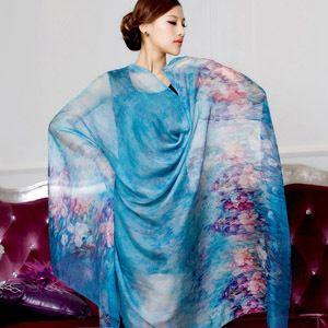 US $21.42 55% OFF|winter 100% real silk scarf wrap shawl for women female all match long design digital printed scarves summer|shawls for women|wrap shawlscarf wrap shawl - AliExpress