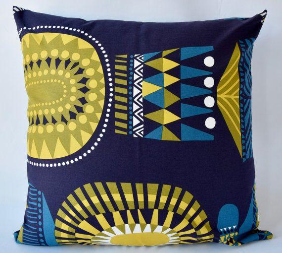 Marimekko Pillow Case Handmade 20x20 inches (50x50cm) by PantsandPillows