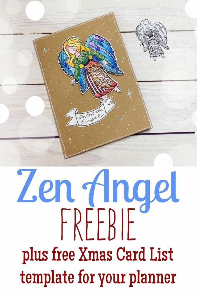 Printable Angel to Paint or Color + Gift List Angel, Planners and