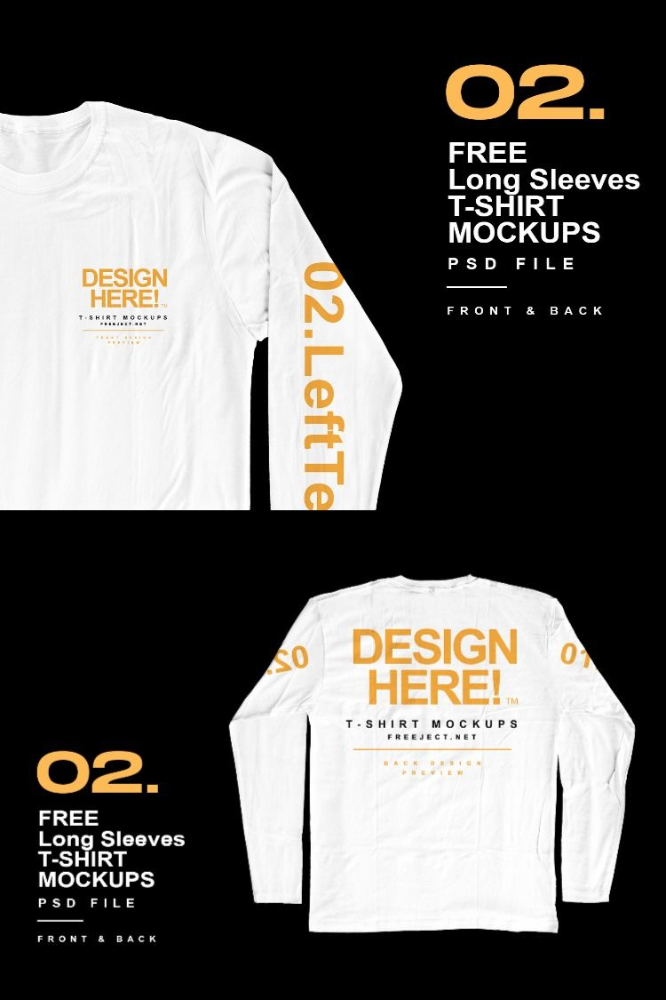 Download Free Download Long Sleeves T Shirt Mockups Design Psd File Shirt Mockup Mockup Design Tshirt Mockup