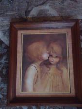 Homco Home Interiors Margaret Kane First Kiss Framed Print