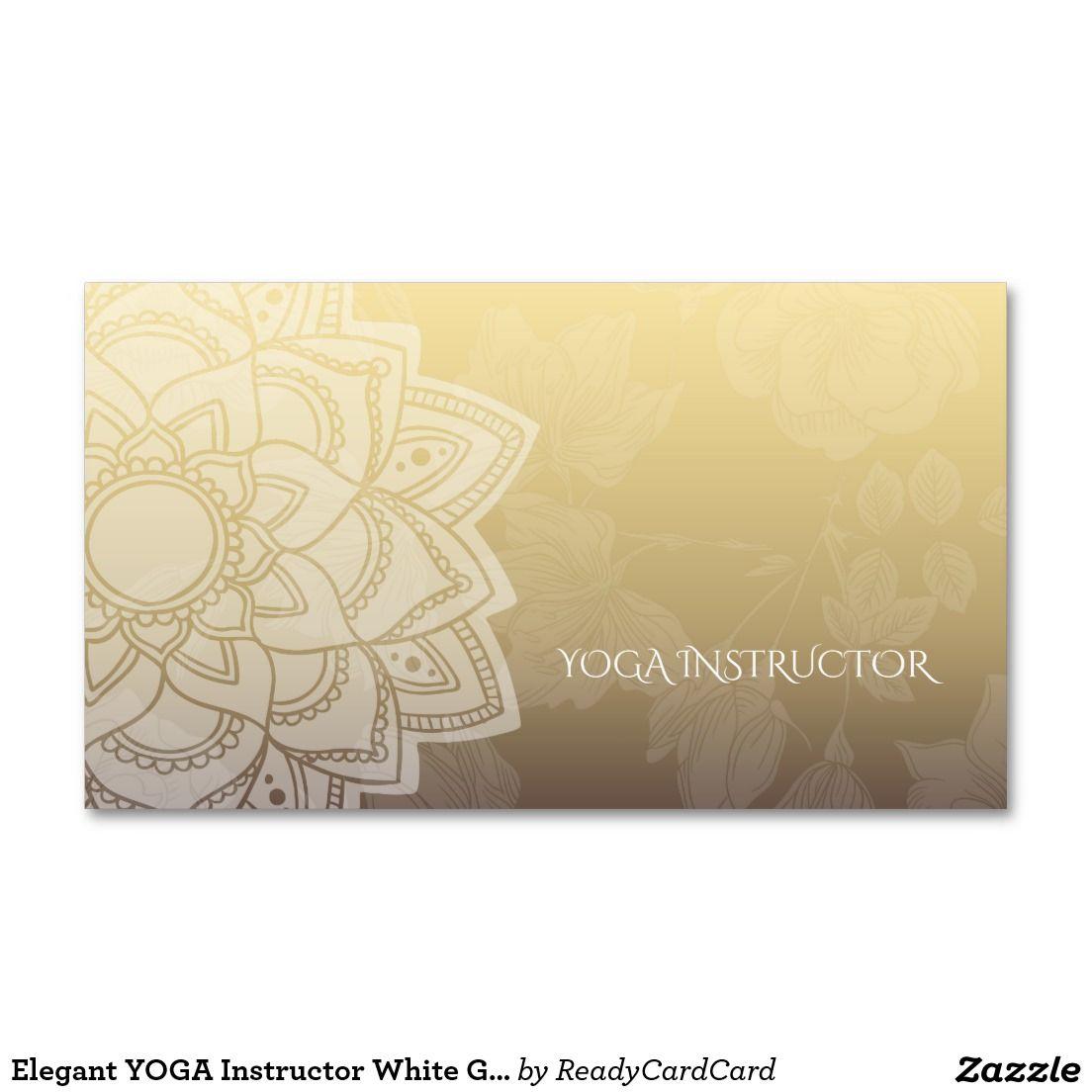 Elegant yoga instructor white gold floral mandala business card elegant yoga instructor white gold floral mandala business card colourmoves
