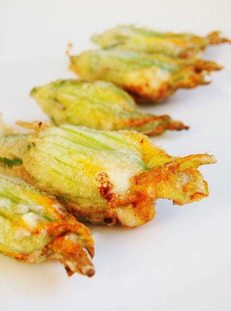 How to Prepare Zucchini Blossoms and Recipe for: Ricotta & Garlic-stuffed Zucchini Blossom by allthingsnice