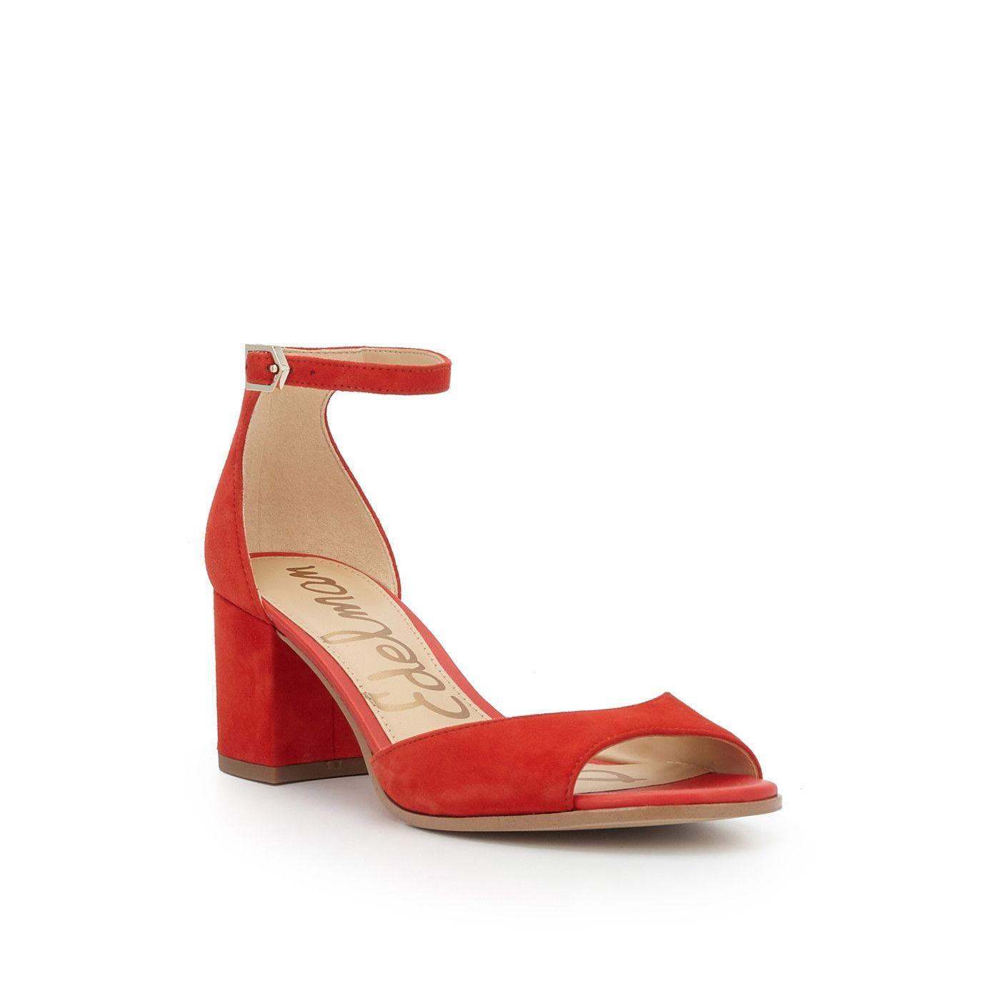 98b221a0772ef8 Susie Ankle Strap Sandal by Sam Edelman - Blood Orange Suede - View ...