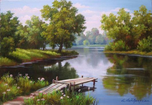 Famous Paintings Of Nature Funzug Com Beautiful Nature Paintings By Samarskaya Elena Mihajlovna Nature Paintings Nature Paintings Acrylic Landscape Art