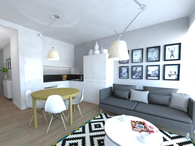 Wykonawcy Wykonanie Kuchnia W Trzech Odslonach Trzy Koncepcje Kuchni Polaczonej Z Salonem W Malym Mieszkaniu Apartment Decor Apartment Interior Home Decor
