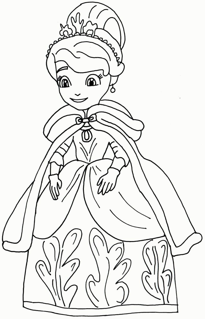 Princess Sofia The First Coloring Pages 001