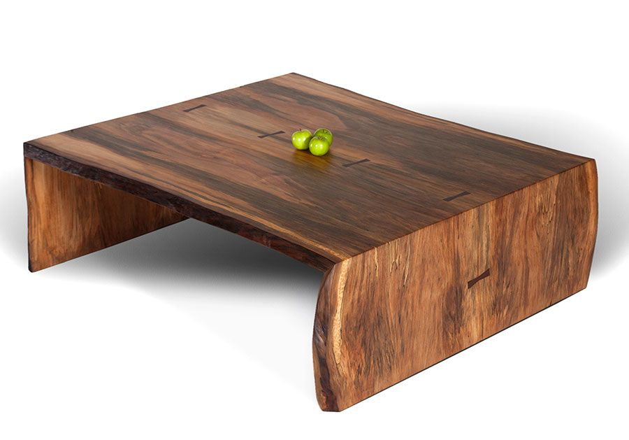 Sycamore low coffee table sustainable wood furniture david stine furniture in st louis mo Low wooden coffee table