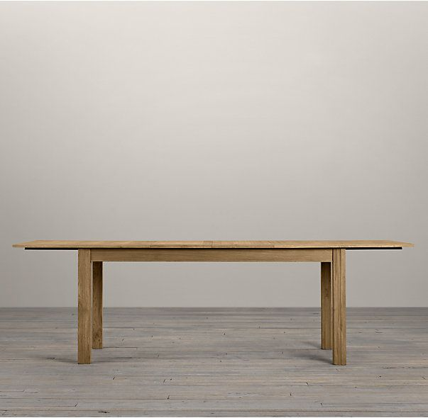 Attractive RHu0027s Drifted Oak Parsons Rectangular Extension Dining Table:The Simple  Proportions Of The Famed Parsons