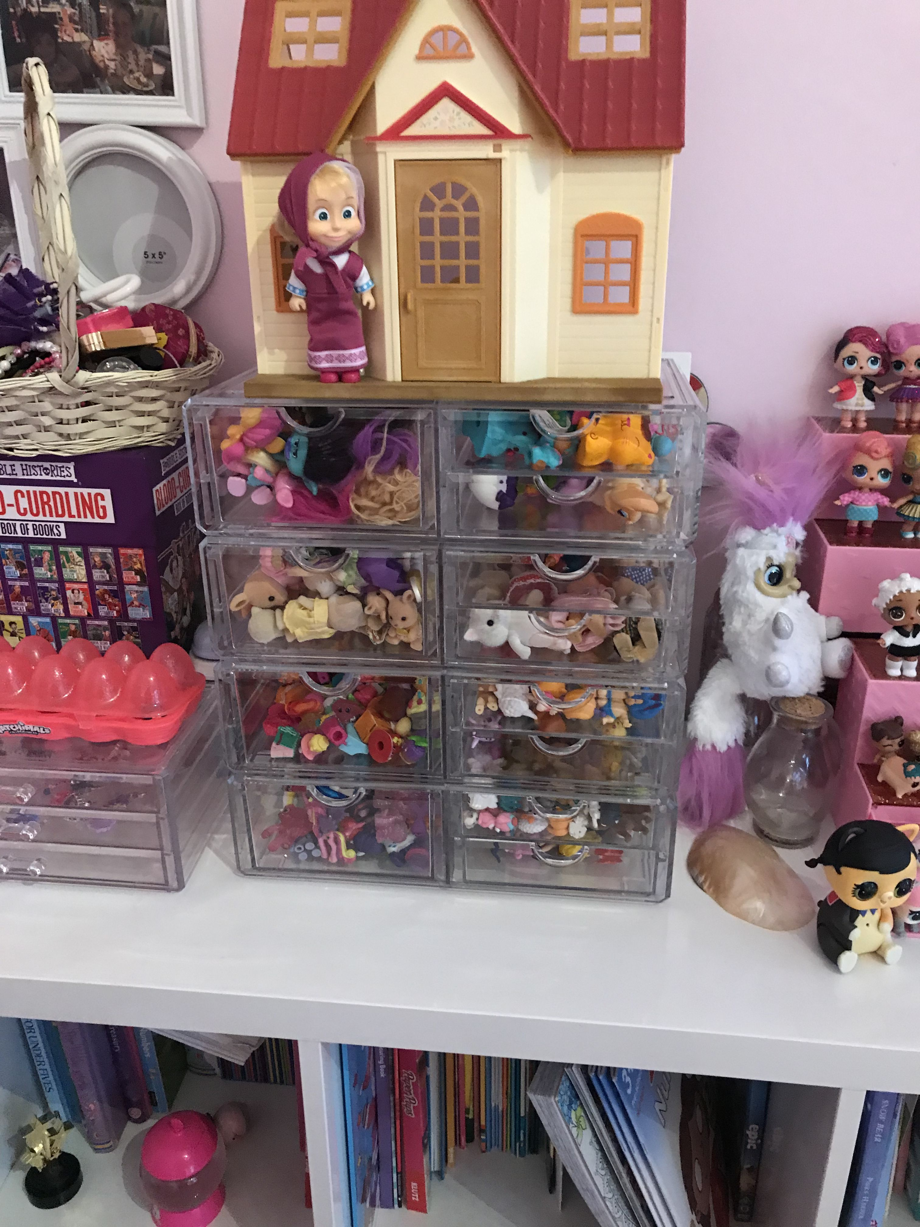 Storage for small toys and collectibles. Toys, Storage