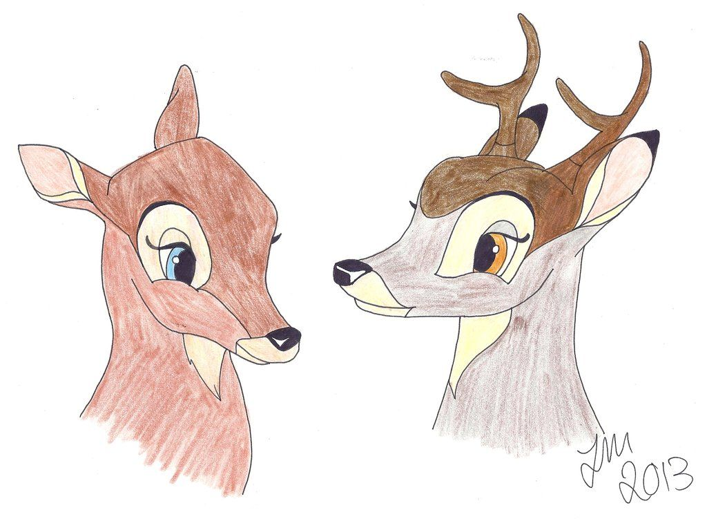 Bambi and Faline as Adult   Adult Bambi and Faline by That-Red-Panda ...