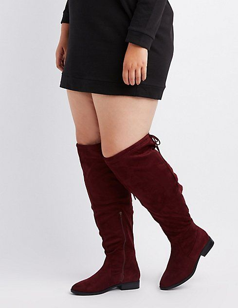 25dd3719a970 Wide Width Tie-Back Over-The-Knee Boots in 2019