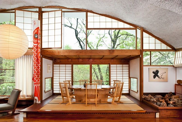 George Nakashima creating beautiful small spaces. | Midcentury ...
