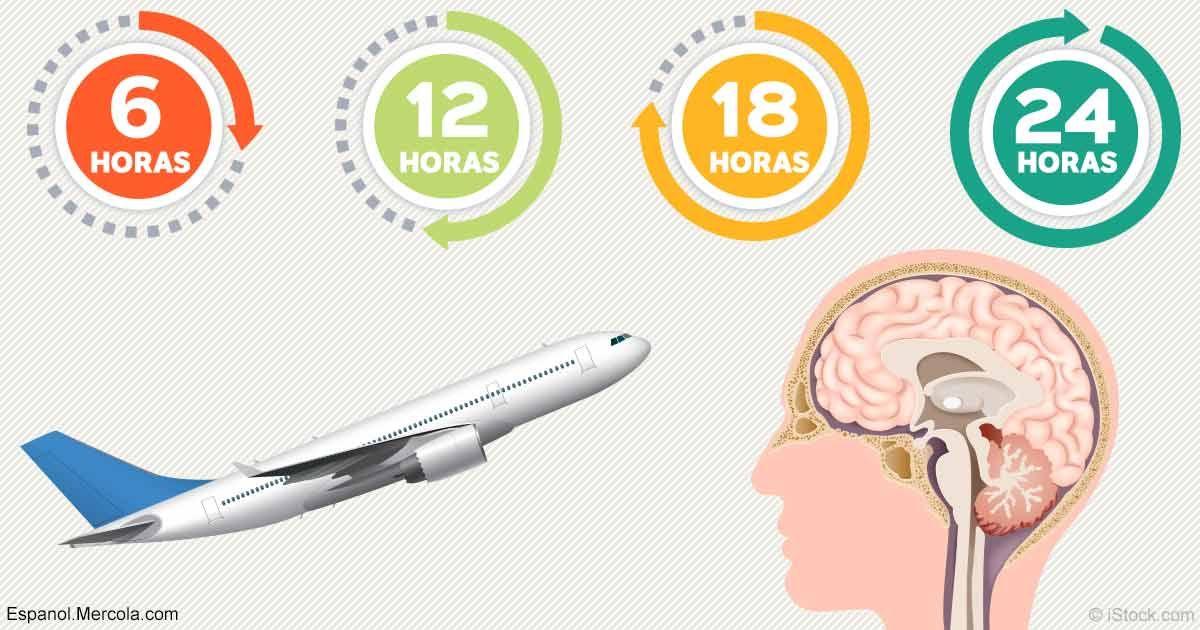 La descompensación horaria al viajar o jet lag ocurre cuando el viaje interrumpe su reloj interno del cuerpo, dando por resultado síntomas mentales, emocionales y físicos.