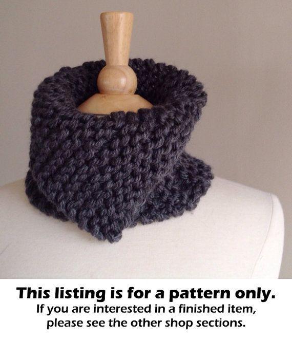 Chunky Knit Scarf Pattern Knit Neckwarmer Pattern Chunky Scarf