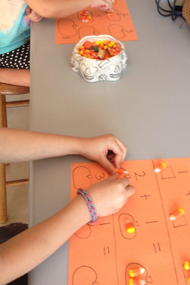 Preschool math for Halloween