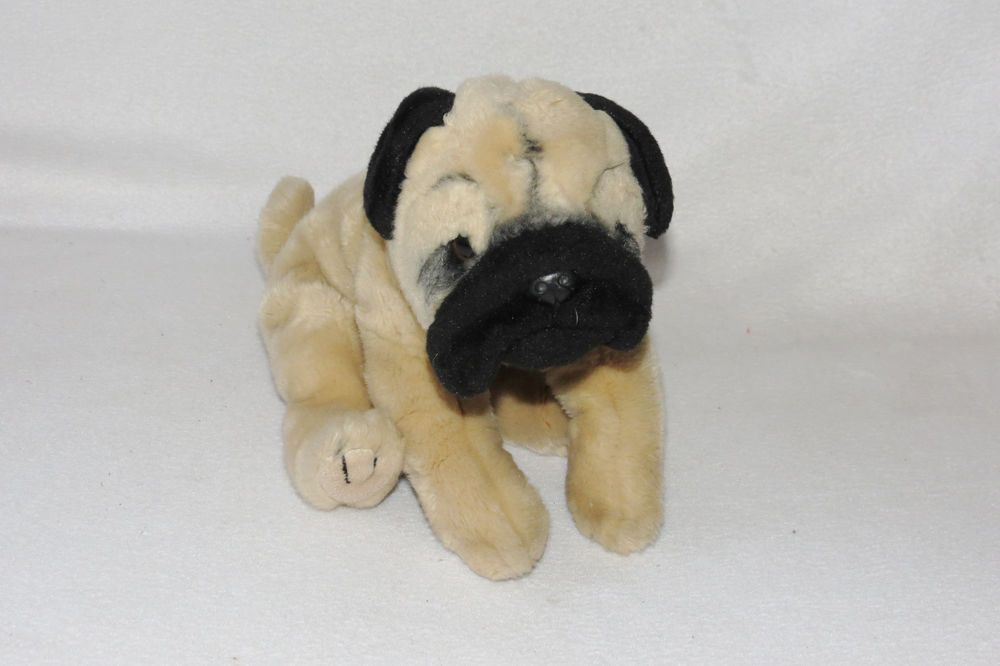 Wondrous Animal Alley Pug Black Tan Brown Dog Stuffed Plush Bean Bag Machost Co Dining Chair Design Ideas Machostcouk
