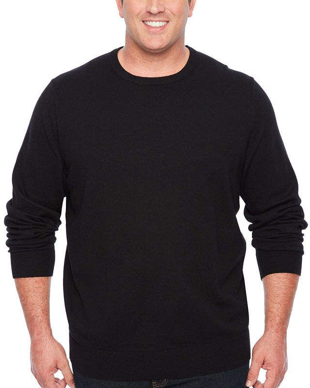 3ce278d4ef THE FOUNDRY SUPPLY CO. The Foundry Big   Tall Supply Co. Crew Neck Long  Sleeve Pullover Sweater - Big and Tall