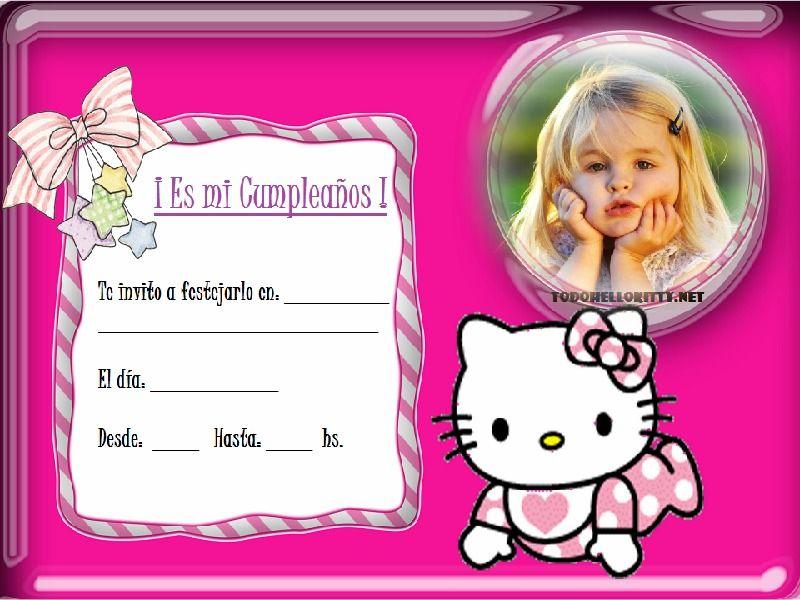 Tarjetas De Cumpleaños Kitty Gratis Para Descargar Al