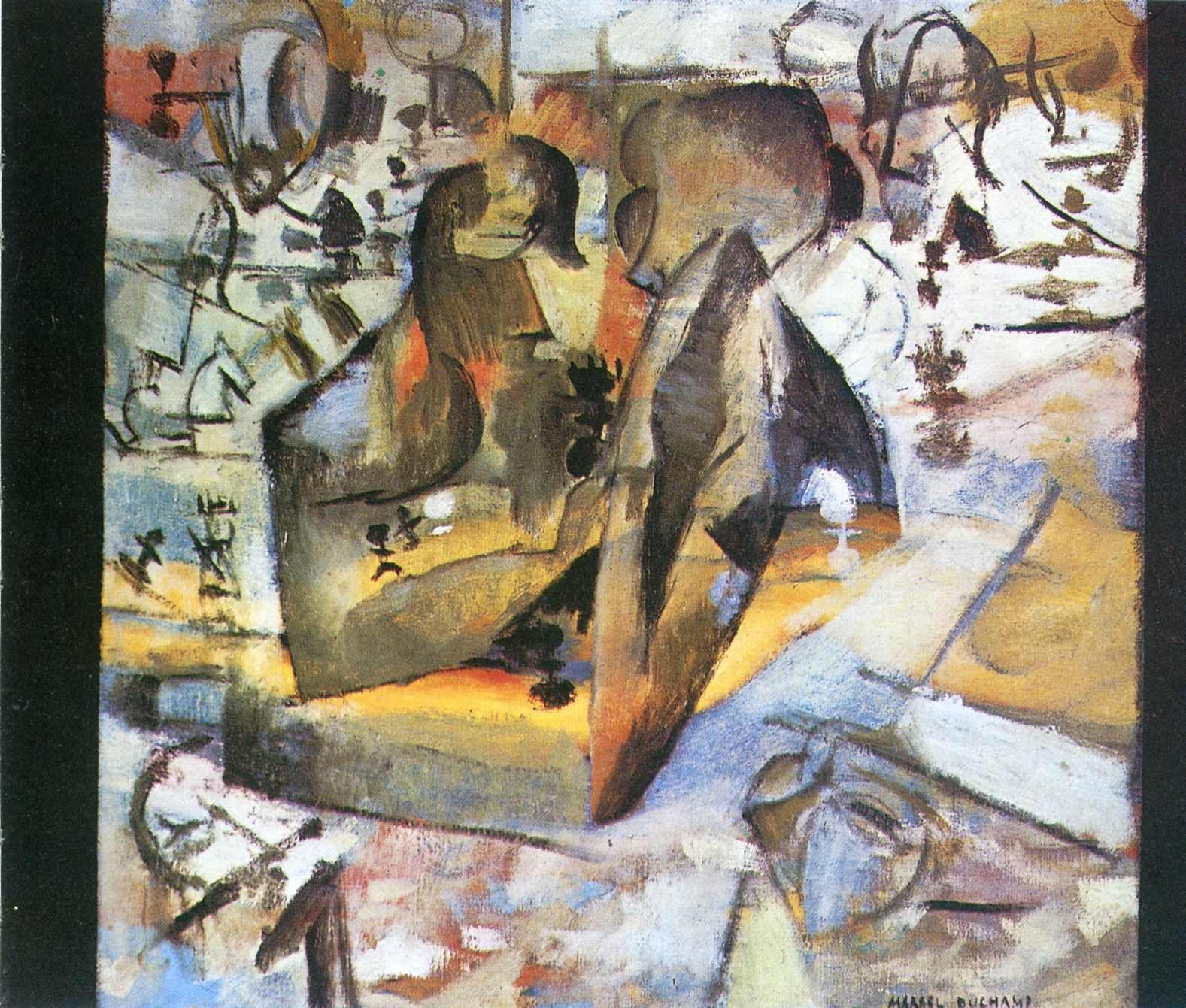 The Chess Players by artistduchamp futurism frenchart