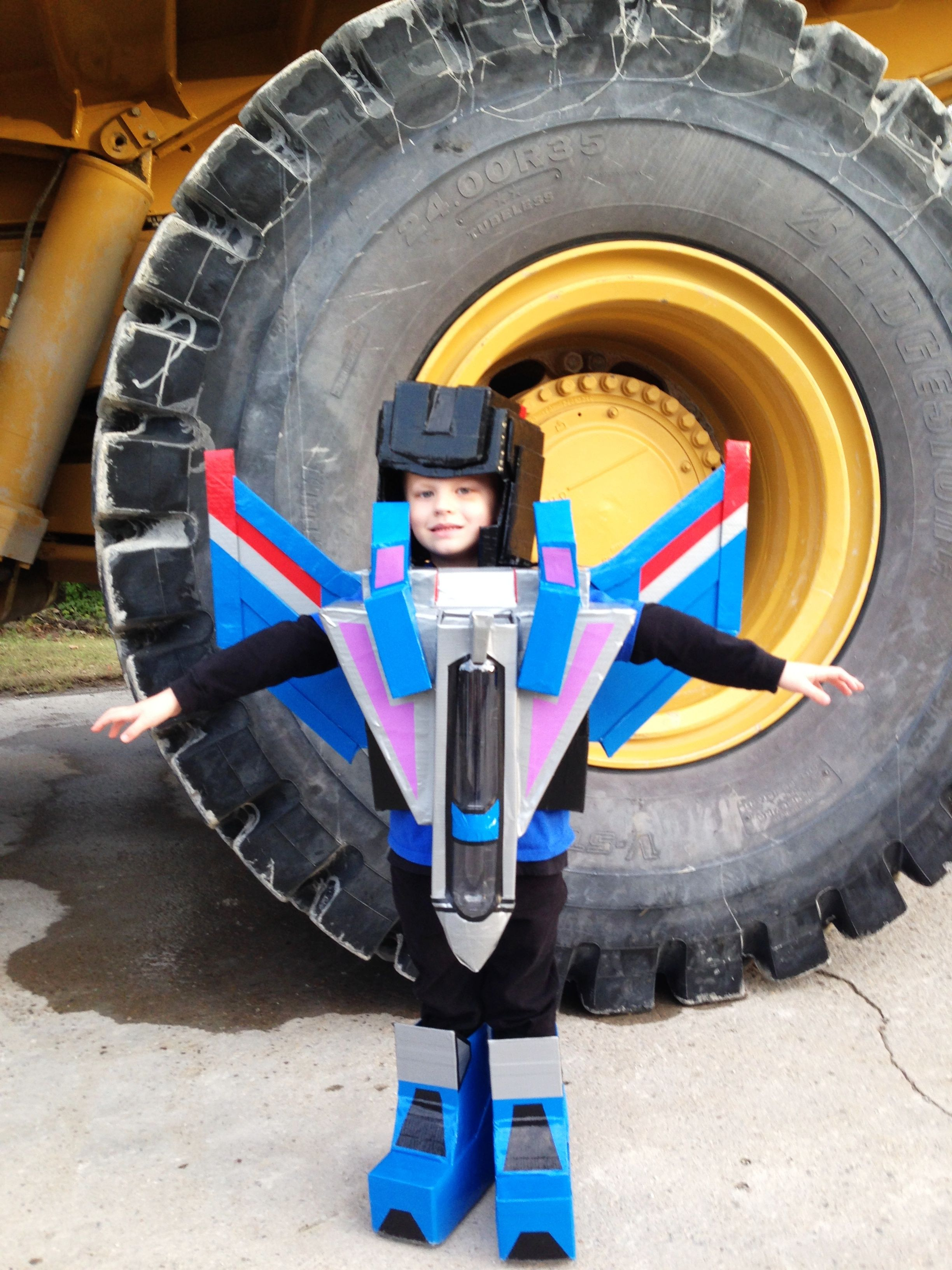 #Thundercracker #Transformer Costume #No Sew Costume #Duct Tape Costume #Boy