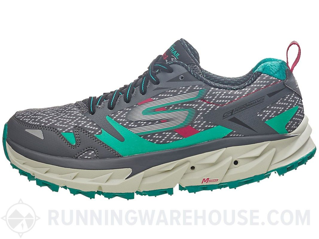 3649485cce96ff Calçados Skechers GOtrail Ultra 3 mulheres Charcoal   Teal