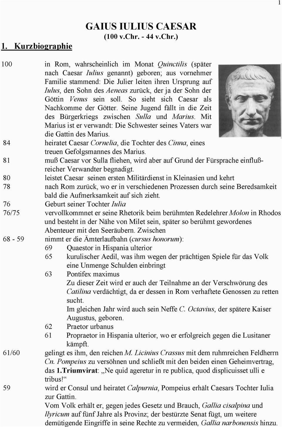 Caesar Lebenslauf Deutsch In 2020 Lebenslauf Lebenslauf Beispiele Leben