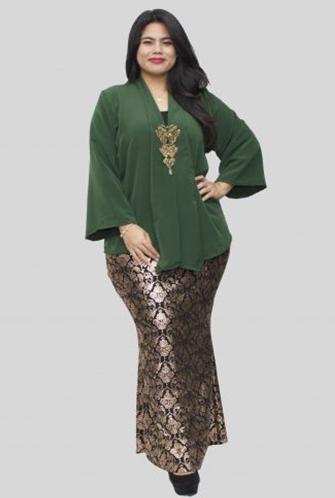Model Baju Gamis Brokat Untuk Orang Gemuk Dan Pantas